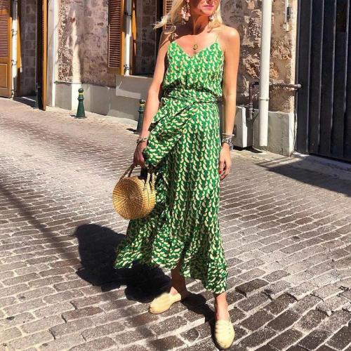 Casual Printed Colour Sleeveless Belted Off-Shoulder Bare Back Dress