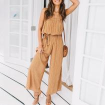 Fashion Off-Shoulder Printed Colour Jumpsuits
