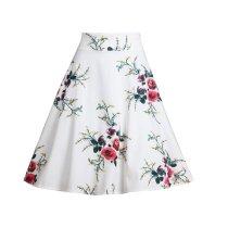 Big Flower Printed Woman Skirt