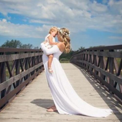 Pregnant Women Off-The-Shoulder Mop Dress