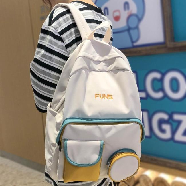 Student Female Cute Backpack Harajuku Women School Bag New Fashion Ladies Backpack Kawaii Waterproof Nylon Girl Book College Bag