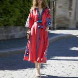 Block Sashes Wrap X-Line Dress