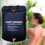 2 PCS Solar Shower Bag Durable Camping Water Bags Portable Sun Compact Heated Practical Large Capacity Outdoor Solar Bath Bag