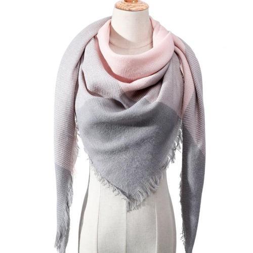 2020 Winter Scarf Women Knitted Plaid warm Scarves Triangle Shawls Wrap Warm Cashmere female Pashmina foulard echarpe bandana