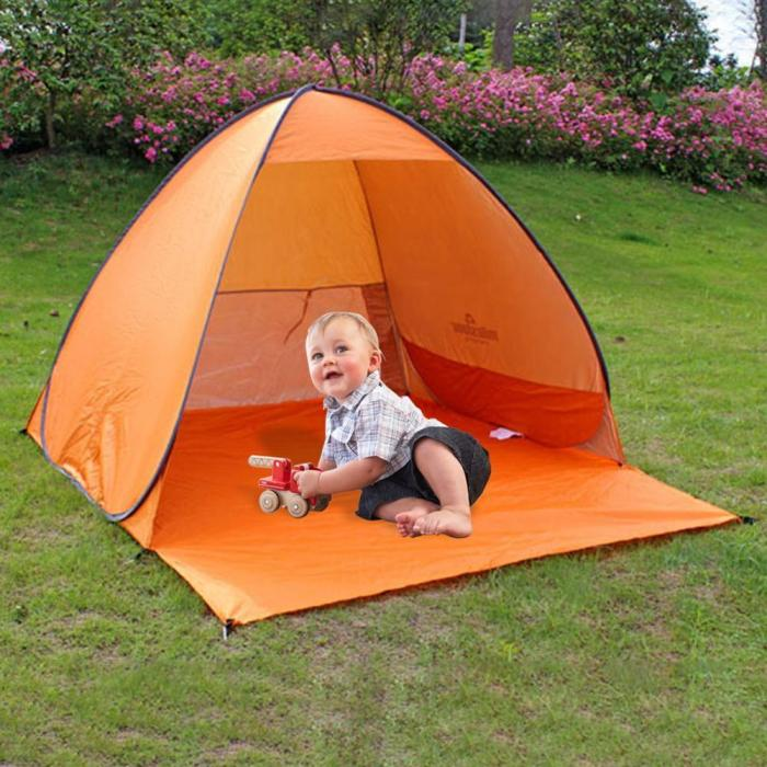 Automatic Beach Tent Shelters Camping UV Protection Pop Up Tent Sun Shade Awning Travel Tourist Camping Tents Shelter