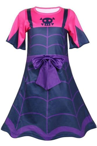 Vampire costumes Girl's summer dress+Mask Kids