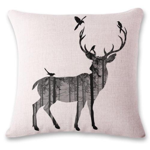 Linen Pillowcase Reactive Printing Animal