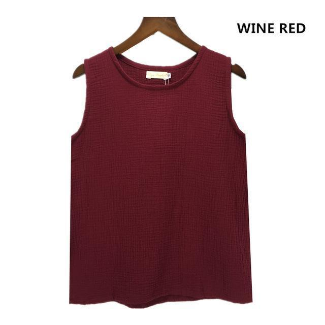 Cotton and Linen Plus Size Tank Tops