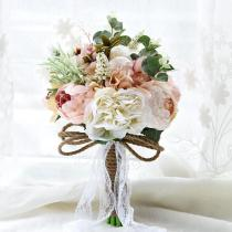 2020 Country Style Artificial Wedding Bouquets Artificial Flower Bouquet Holding Flowers Valentine's Day Gifts
