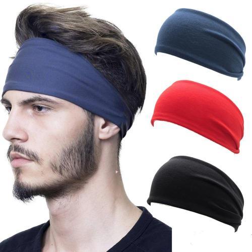 Men Women Sport Yoga Wide Headband Sweatband Solid Color Stretch Outdoor Fitness Elastic Hair Bands Hair Accessories Headwear