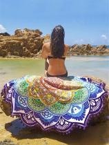 Polygonal Lotus Colorful Beach Mat
