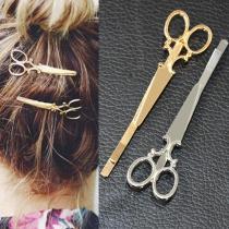 1/5pcs Creative Hair Accessories Scissors Shape Delicate Hair Pin Hair Barrette Women Lady Girls Hair Clip Decorations