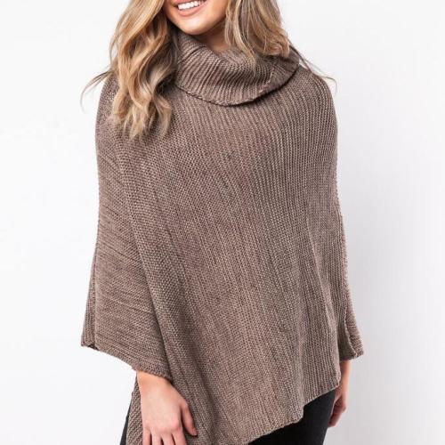 Fashion Big Size Cape High Collar Knitwear