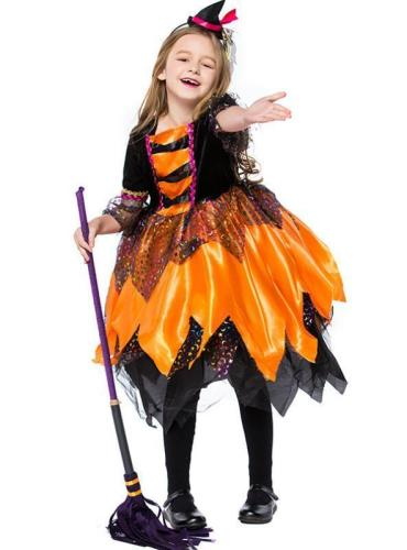 Orange Little Witch Stage Performance Cosplay