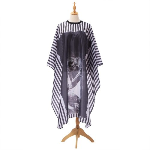 Haircut Cloth Hairdressing Barber Cloth Black Chambray Haircut Apron Polyester Hair Styling Design Supplies Salon Barber Gown