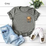 Pocket Sloth Large Cotton Short Sleeve Ladies T-shirt