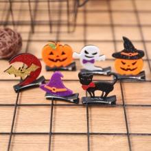 Halloween Pumpkin Hairclips Devil Bat Wings Hairpins Headdress Costume Kids Halloween Party Cosplay Hair Decor Accessorie