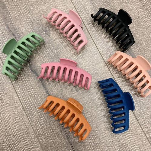 1Pc Korean Solid Big Hair Claws Elegant Frosted Acrylic Hair Clips Hairpins Barrette Headwear for Women Girls Hair Accessories