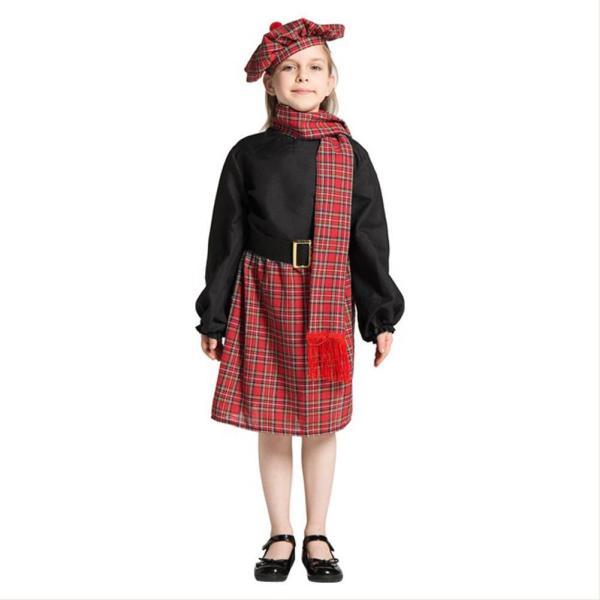 Girls Scotland Dress Carnival Halloween Party Costume