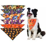 1 Pcs Pet Accessories Pumpkin thanksgiving Cute Dog Cat Bandanas For Small Large Dog Halloween Bandana Scarf Pet Product
