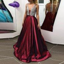 Fashion Sexy V-Neck Sequin Dress