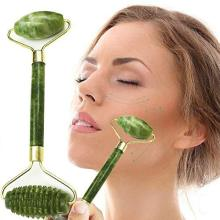 Double Head Jade Roller Natural Jade Massage Roller Facial Real Stone Beauty Massager Face Lift Tool Face Thin Skin Care Tools