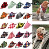 Dog Bandana Cotton Plaid Washable Winter Pet Dog Bandanas Scarf Bow ties Collar Cat Small Middle Large Dog Grooming Products