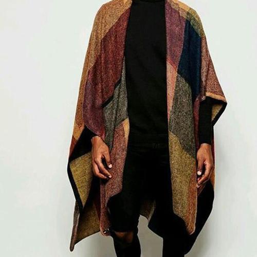 Fashion Splicing Plaid Loose Shawl