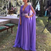 Sexy Deep V Waist Evening Dress