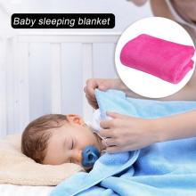 70x100cm Super Warm Solid Warm Micro Plush Fleece Blanket Baby Sleeping Throw Blankets Sofa Bedding Throw Rug Sofa Bedding