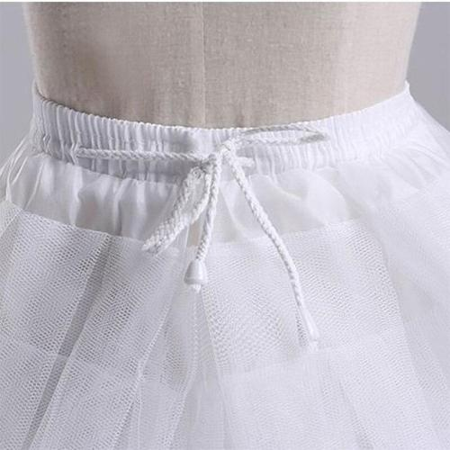 3 Layers Hoopless Three Layers Net White A-Line Flower Girl Dress Crinoline for Wedding Party Underskirt 2020
