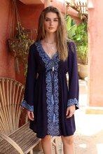 Mini Boho Dress, Beach Dress, Embroidered Dress, Harper