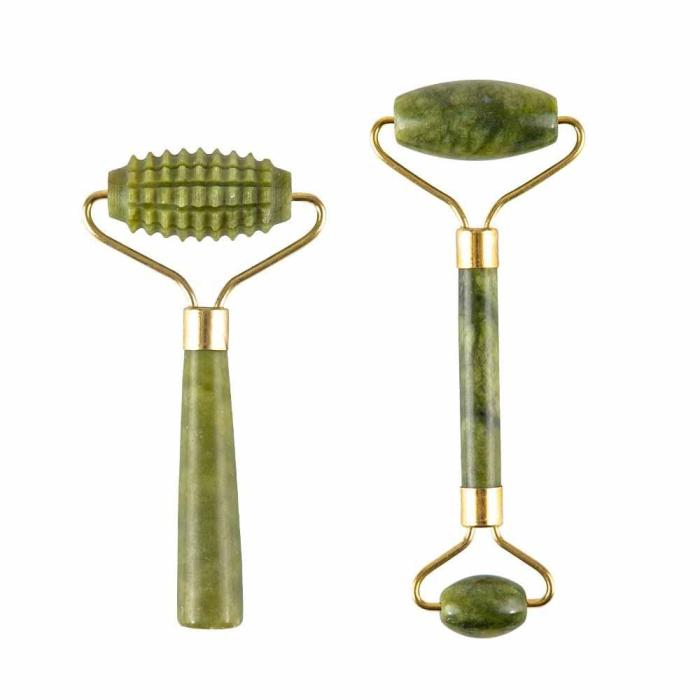 Massager For Face Jade Roller Facial Skin Care Tools Natural  Gouache Scraper Body Back Beauty Slimming Massagers Roller Set