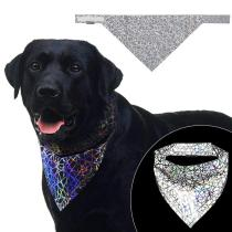 Pet Reflective Bandana High Visibility Dog Scarf Colorful Safety Neckerchief for dogs cats Coleira Cachorro Mascotas Perro Cani