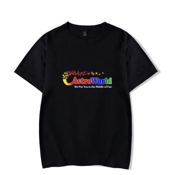 ASTROWORLD Printed Short Sleeve Summer Men T-shirt Top