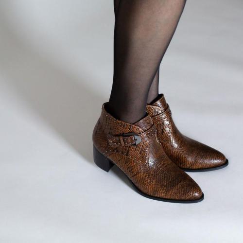 Women's fashion animal print versatile booties