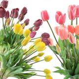 5Pcs/bunch Artificial Tulips Flower For Home Wedding Decoration Bride Hand Flowers Real Touch Soft Silicone Tulip flores Decor