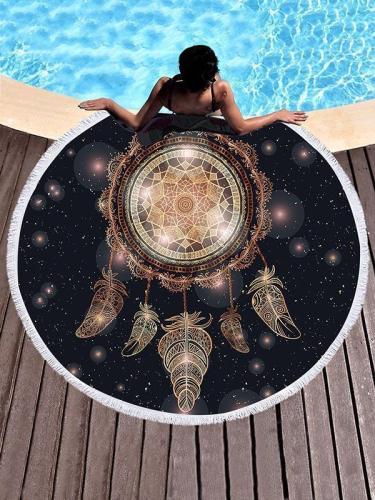 Dreamcatch Circle Tasseled Beach Mat
