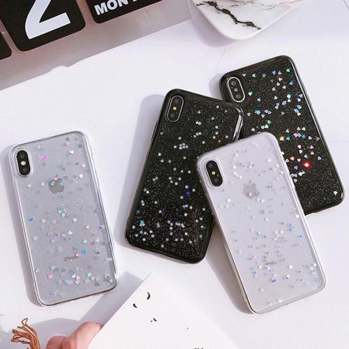 Star Heart Shape Glitter Phone Case