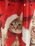 Red 1950s Christmas Cat Swing Dress