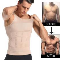 Men Slimming Body Shaper Waist Trainer Vest Tummy Control Posture Shirt Back Correction Abdomen Tank Top Shaperwear
