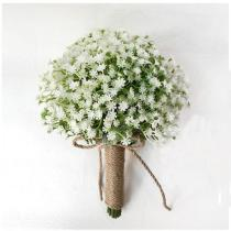 2020 Beautiful Wedding Flowers Bridal Bouquets Artificial Flower Bouquet Green/White 20*20 Cm Handmade Flowers for Bridal Party
