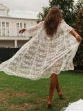 Lacy Hollow See-through Cover-up Swimwear