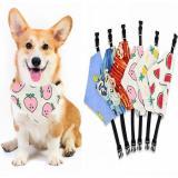 Cute Dog Scarf Quick Release Collar Adjustable Cat Puppy Bandana Bibs For Small Medium Large Dogs Saliva Towel Pet Accessories