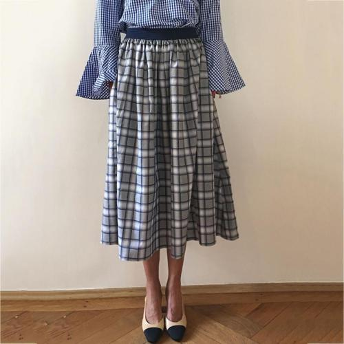 Fashion Plaid Loose Pocket Skirt RY58