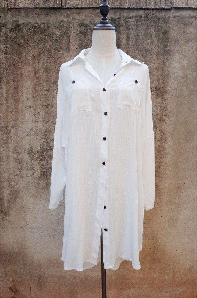 Mini Boho Dress, Beach Dress, Shirt Dress, Holiday