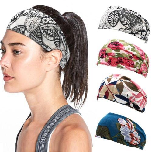 New Boho Floral Printed Headband For Women Girls SPA Wide Elastic Hair Bands Sweatband Sport Yoga Soft Hair Accessories Headwrap