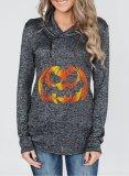 Halloween Pumpkin Print Funny Hoodie