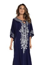 Maxi Boho Dress, Beach Dress,  Embroidered Dress, Raya (3 colors)