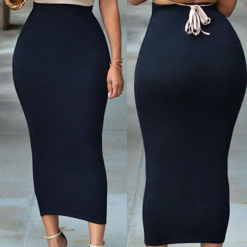 2019 New Sexy Women Lady Skirts Sexy Bodycon Solid High Waist Bodycon Straight Stretch Pencil Midi Skirt Solid Long Skirts